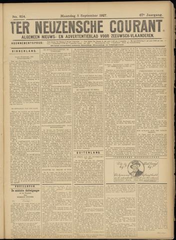 Ter Neuzensche Courant. Algemeen Nieuws- en Advertentieblad voor Zeeuwsch-Vlaanderen / Neuzensche Courant ... (idem) / (Algemeen) nieuws en advertentieblad voor Zeeuwsch-Vlaanderen 1927-09-05
