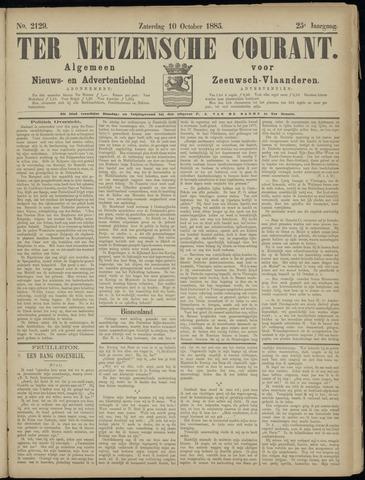Ter Neuzensche Courant. Algemeen Nieuws- en Advertentieblad voor Zeeuwsch-Vlaanderen / Neuzensche Courant ... (idem) / (Algemeen) nieuws en advertentieblad voor Zeeuwsch-Vlaanderen 1885-10-10