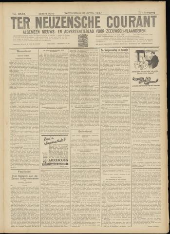Ter Neuzensche Courant. Algemeen Nieuws- en Advertentieblad voor Zeeuwsch-Vlaanderen / Neuzensche Courant ... (idem) / (Algemeen) nieuws en advertentieblad voor Zeeuwsch-Vlaanderen 1937-04-21