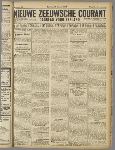 Nieuwe Zeeuwsche Courant 1923-01-27
