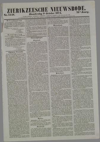 Zierikzeesche Nieuwsbode 1874-10-09