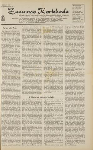 Zeeuwsche kerkbode, weekblad gewijd aan de belangen der gereformeerde kerken/ Zeeuwsch kerkblad 1963-02-08