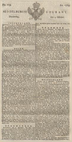 Middelburgsche Courant 1764-10-04
