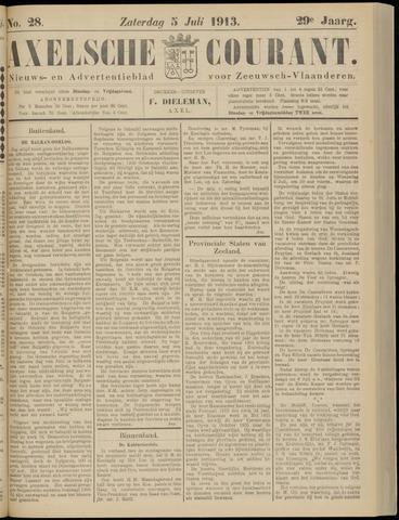 Axelsche Courant 1913-07-05
