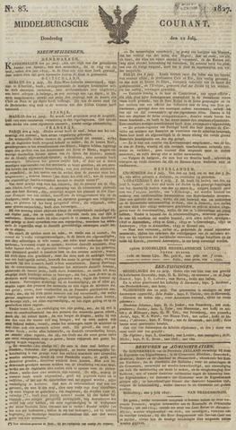 Middelburgsche Courant 1827-07-12