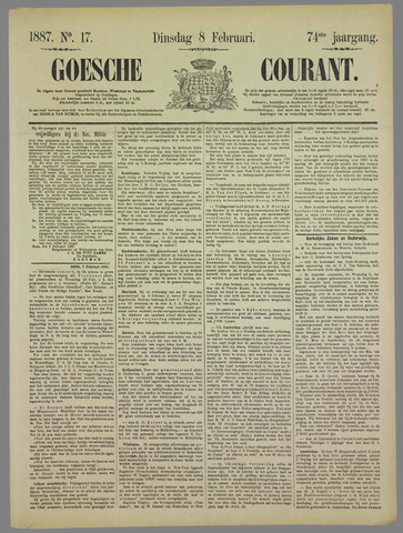 Goessche Courant 1887-02-08