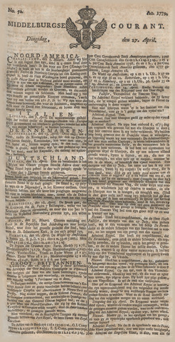 Middelburgsche Courant 1779-04-27