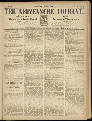 Ter Neuzensche Courant. Algemeen Nieuws- en Advertentieblad voor Zeeuwsch-Vlaanderen / Neuzensche Courant ... (idem) / (Algemeen) nieuws en advertentieblad voor Zeeuwsch-Vlaanderen 1897-06-10