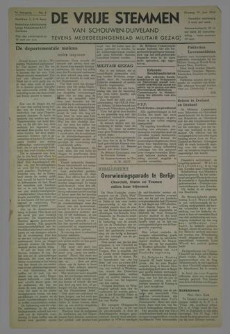Vrije Stemmen van Schouwen-Duiveland, tevens mededeelingenblad Militair Gezag 1945-06-19