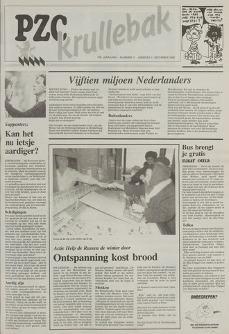 Provinciale Zeeuwse Courant katern Krullenbak (1981-1999) 1990-12-11