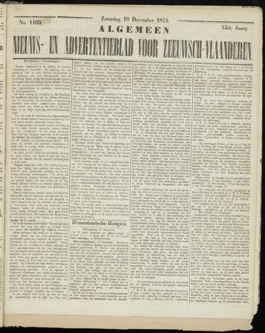 Ter Neuzensche Courant. Algemeen Nieuws- en Advertentieblad voor Zeeuwsch-Vlaanderen / Neuzensche Courant ... (idem) / (Algemeen) nieuws en advertentieblad voor Zeeuwsch-Vlaanderen 1875-12-18