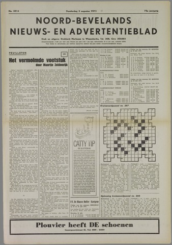 Noord-Bevelands Nieuws- en advertentieblad 1972-08-03