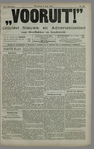 """""""Vooruit!""""Officieel Nieuws- en Advertentieblad voor Overflakkee en Goedereede 1915-06-09"""