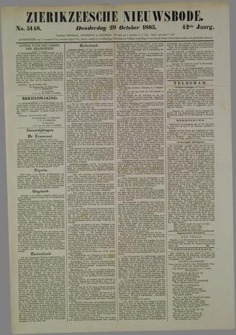 Zierikzeesche Nieuwsbode 1885-10-29