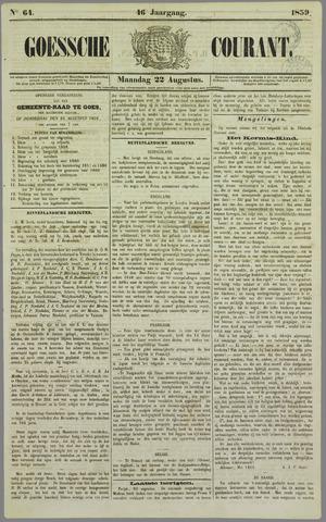 Goessche Courant 1859-08-22