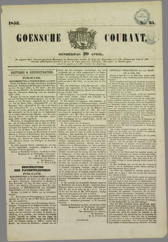 Goessche Courant 1852-04-29