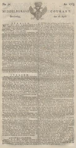 Middelburgsche Courant 1763-04-28