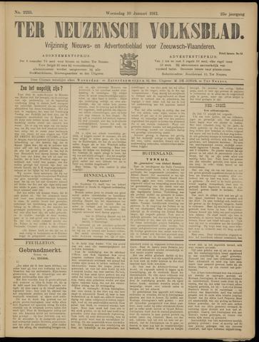 Ter Neuzensch Volksblad. Vrijzinnig nieuws- en advertentieblad voor Zeeuwsch- Vlaanderen / Zeeuwsch Nieuwsblad. Nieuws- en advertentieblad voor Zeeland 1912-01-10