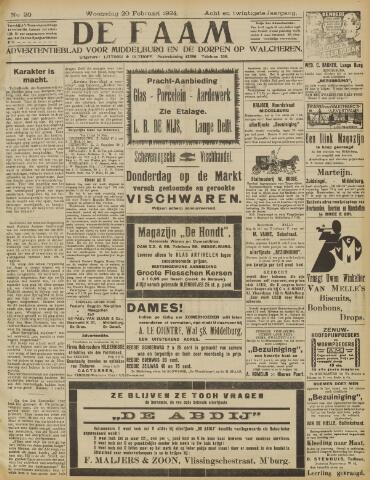 de Faam en de Faam/de Vlissinger 1924-02-20