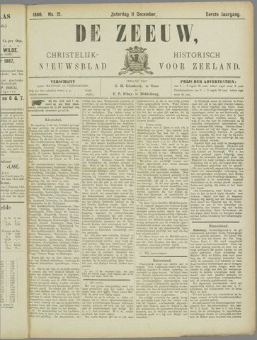 De Zeeuw. Christelijk-historisch nieuwsblad voor Zeeland 1886-12-11