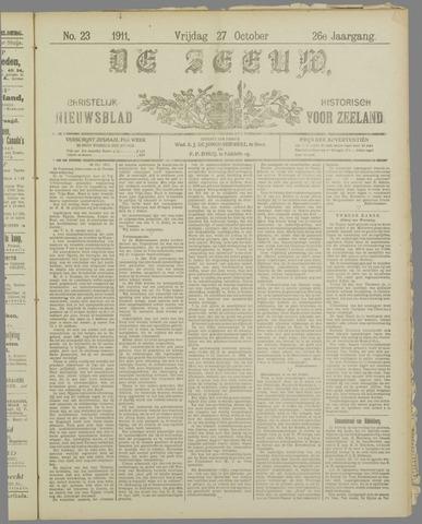 De Zeeuw. Christelijk-historisch nieuwsblad voor Zeeland 1911-10-27