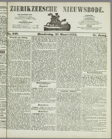 Zierikzeesche Nieuwsbode 1852-03-25