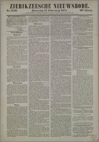 Zierikzeesche Nieuwsbode 1874-02-14