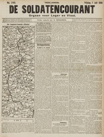 De Soldatencourant. Orgaan voor Leger en Vloot 1916-07-07