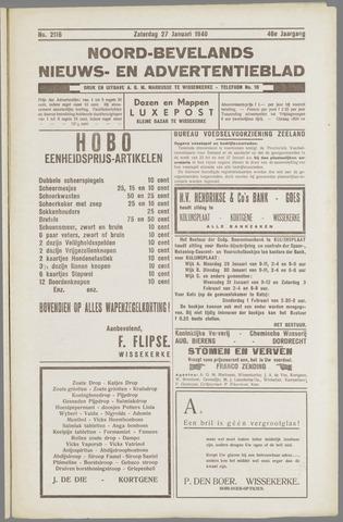 Noord-Bevelands Nieuws- en advertentieblad 1940-01-27