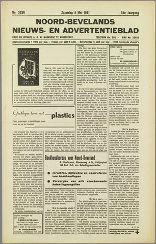 Noord-Bevelands Nieuws- en advertentieblad 1951-05-05