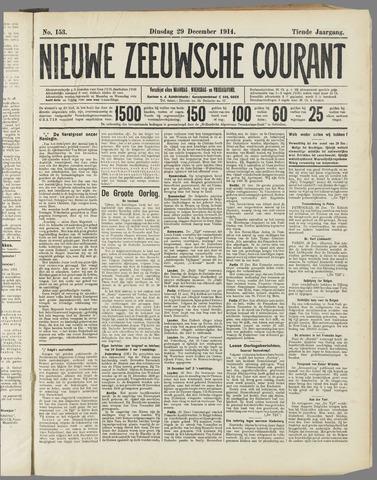 Nieuwe Zeeuwsche Courant 1914-12-29