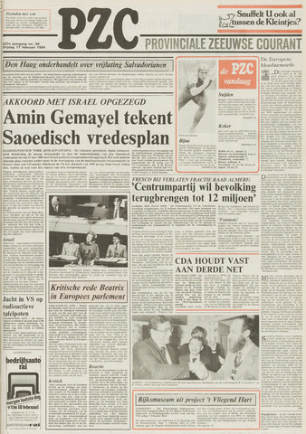 Provinciale Zeeuwse Courant 1984-02-17
