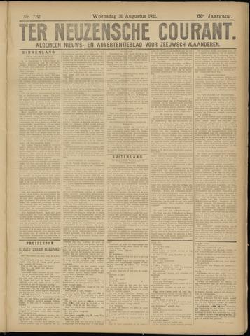 Ter Neuzensche Courant. Algemeen Nieuws- en Advertentieblad voor Zeeuwsch-Vlaanderen / Neuzensche Courant ... (idem) / (Algemeen) nieuws en advertentieblad voor Zeeuwsch-Vlaanderen 1921-08-31