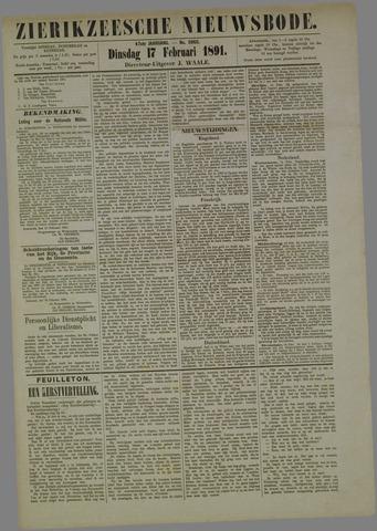 Zierikzeesche Nieuwsbode 1891-02-17