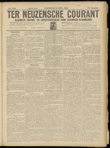 Ter Neuzensche Courant. Algemeen Nieuws- en Advertentieblad voor Zeeuwsch-Vlaanderen / Neuzensche Courant ... (idem) / (Algemeen) nieuws en advertentieblad voor Zeeuwsch-Vlaanderen 1934-04-18