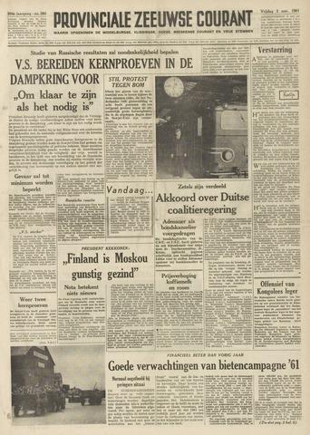 Provinciale Zeeuwse Courant 1961-11-03