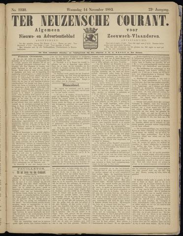 Ter Neuzensche Courant. Algemeen Nieuws- en Advertentieblad voor Zeeuwsch-Vlaanderen / Neuzensche Courant ... (idem) / (Algemeen) nieuws en advertentieblad voor Zeeuwsch-Vlaanderen 1883-11-14