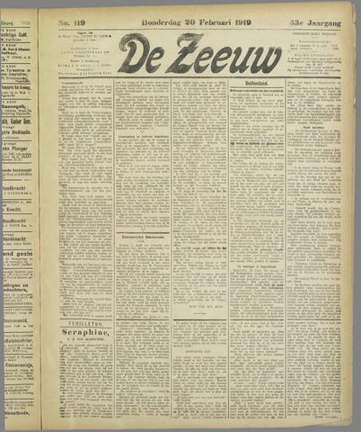 De Zeeuw. Christelijk-historisch nieuwsblad voor Zeeland 1919-02-20