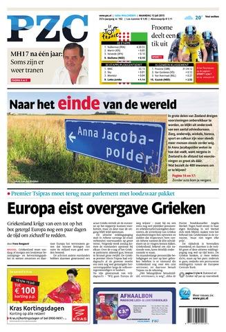 Provinciale Zeeuwse Courant 2015-07-13
