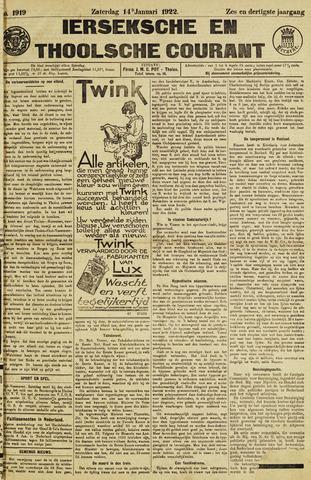 Ierseksche en Thoolsche Courant 1922-01-14