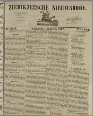 Zierikzeesche Nieuwsbode 1867-08-07