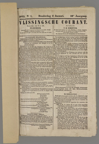 Vlissingse Courant 1872