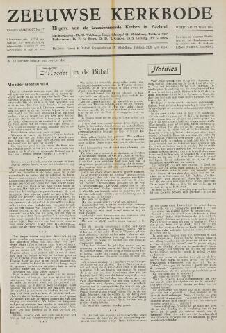 Zeeuwsche kerkbode, weekblad gewijd aan de belangen der gereformeerde kerken/ Zeeuwsch kerkblad 1949-05-13