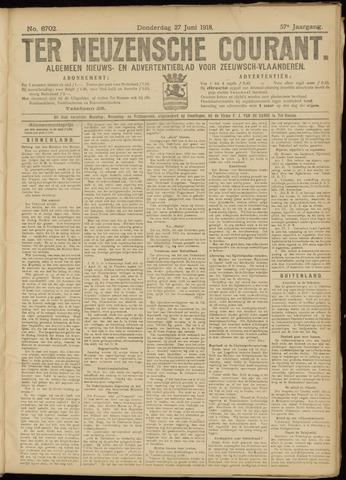 Ter Neuzensche Courant. Algemeen Nieuws- en Advertentieblad voor Zeeuwsch-Vlaanderen / Neuzensche Courant ... (idem) / (Algemeen) nieuws en advertentieblad voor Zeeuwsch-Vlaanderen 1918-06-27