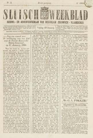 Sluisch Weekblad. Nieuws- en advertentieblad voor Westelijk Zeeuwsch-Vlaanderen 1865-01-13