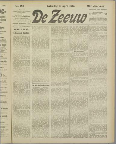 De Zeeuw. Christelijk-historisch nieuwsblad voor Zeeland 1915-04-03
