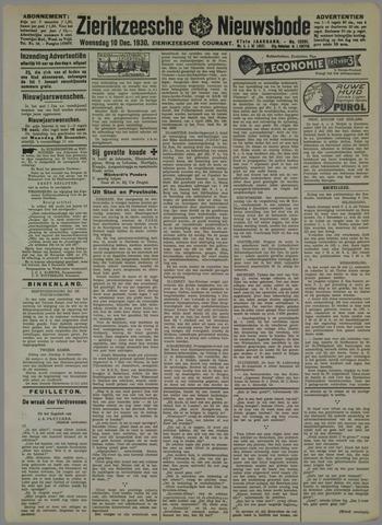 Zierikzeesche Nieuwsbode 1930-12-10