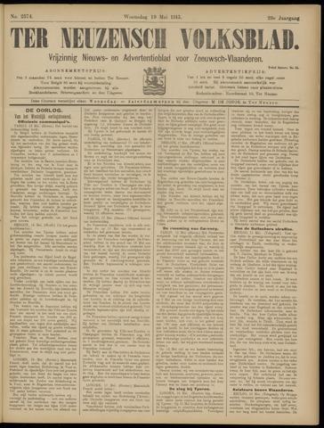 Ter Neuzensch Volksblad. Vrijzinnig nieuws- en advertentieblad voor Zeeuwsch- Vlaanderen / Zeeuwsch Nieuwsblad. Nieuws- en advertentieblad voor Zeeland 1915-05-19