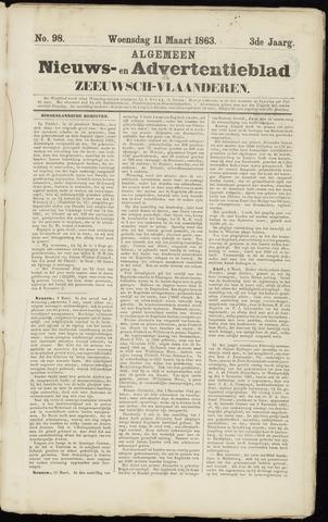 Ter Neuzensche Courant. Algemeen Nieuws- en Advertentieblad voor Zeeuwsch-Vlaanderen / Neuzensche Courant ... (idem) / (Algemeen) nieuws en advertentieblad voor Zeeuwsch-Vlaanderen 1863-03-11