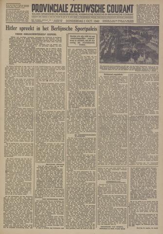 Provinciale Zeeuwse Courant 1942-10-01